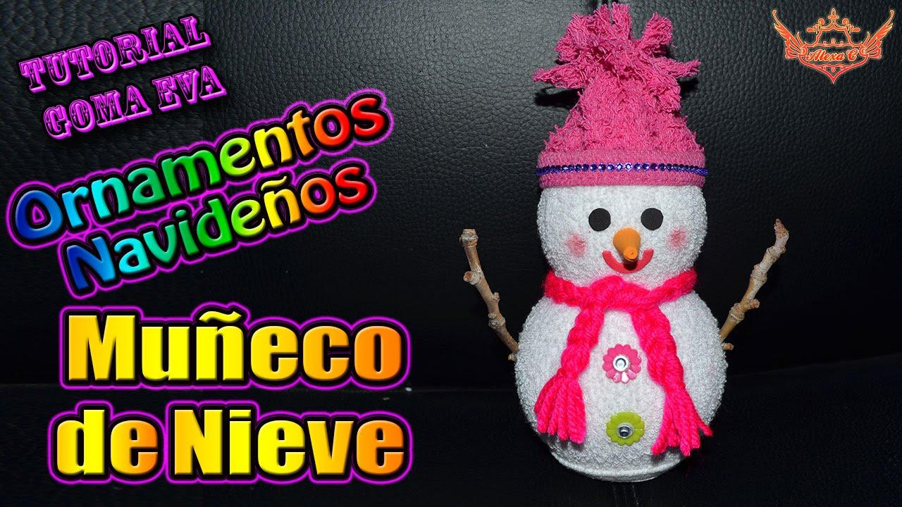 Tutorial navidad ornamentos navide os mu eco de nieve - Ornamentos de navidad ...