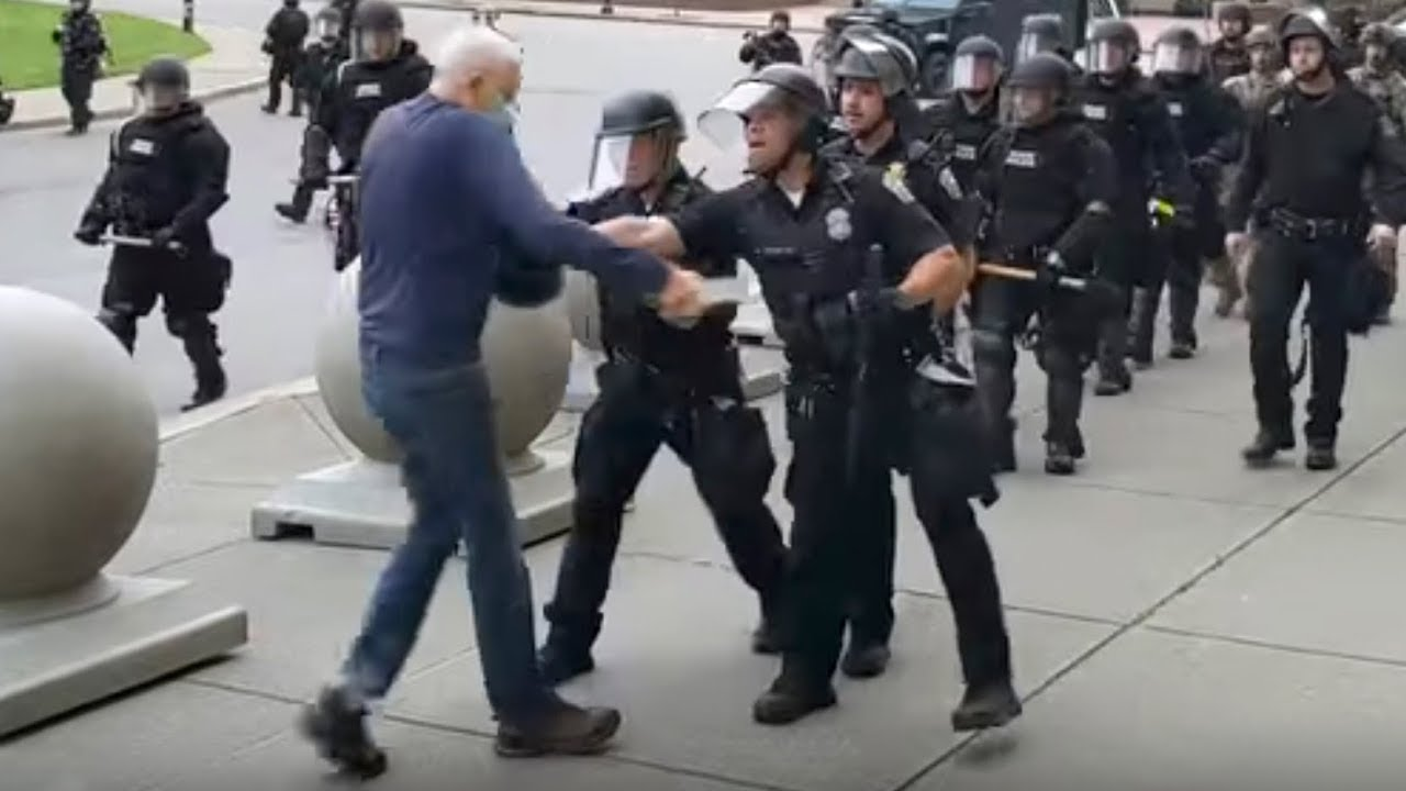 George Floyd protests: Police officers who shove and injure 75-year-old man are suspended