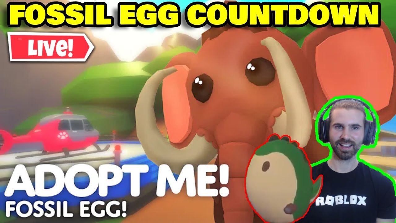 Roblox Adopt Me Fossil Egg Countdown Fossil Egg Adopt Me Countdown Roblox Adopt Me Countdown Live Youtube