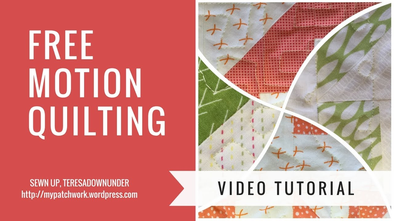 Free motion quilting tutorial series video #5: stippling and.