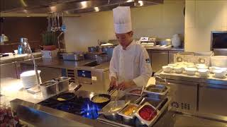 Chef Making a French Omelette