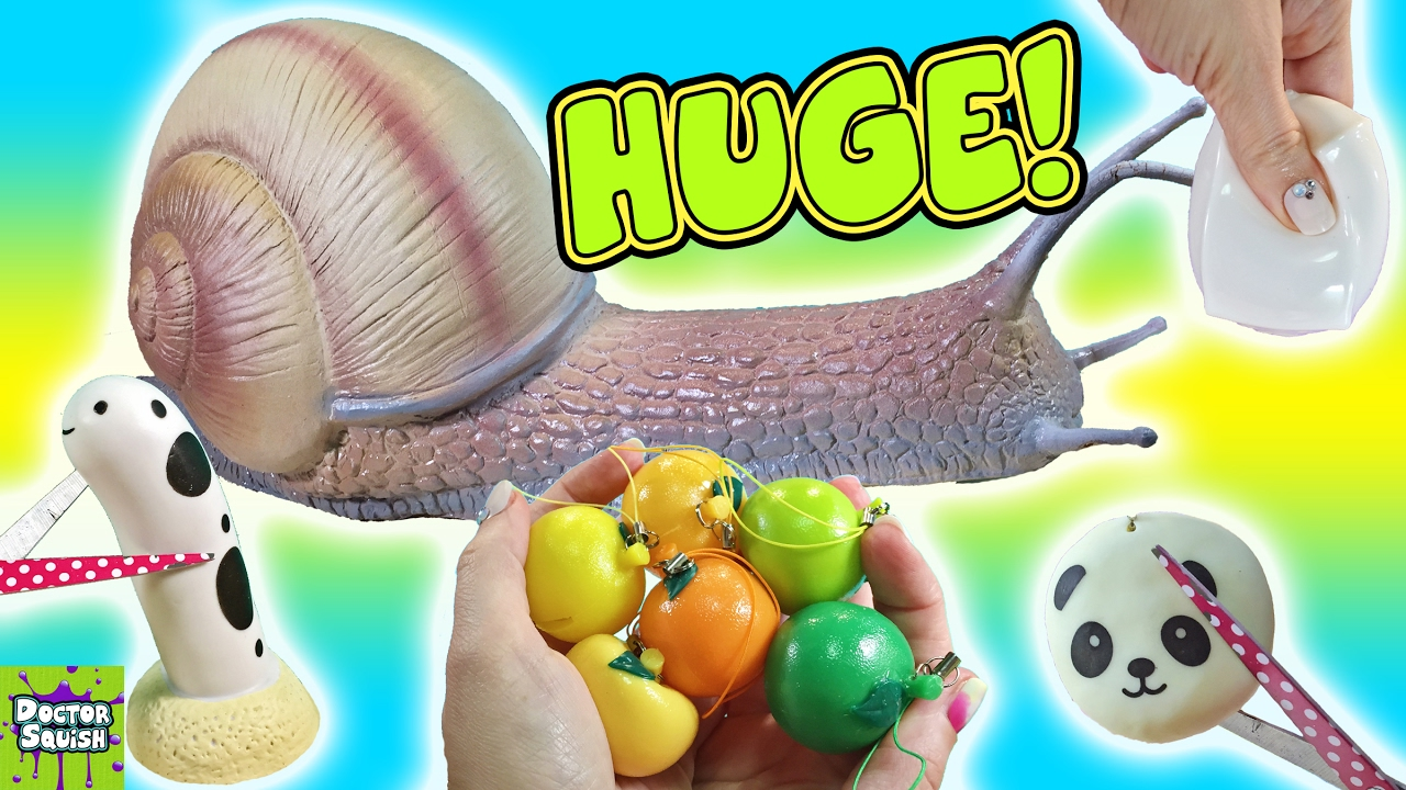 Squishy Toys Cutting : Cutting Open Huge Squishy Snail Toy! Snail Slime! Homemade Squeeze Toy Doctor Squish - YouTube