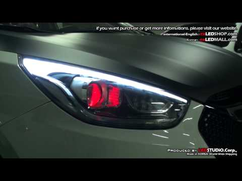 exLED 2013 New Tucson iX Head Lights LED Tuning