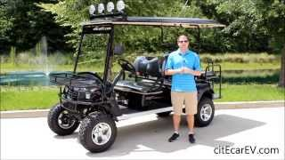 citEcar Electric Vehicles Lifted 6pr Custom Cart Build