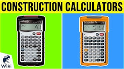 10 Best Construction Calculators 2019