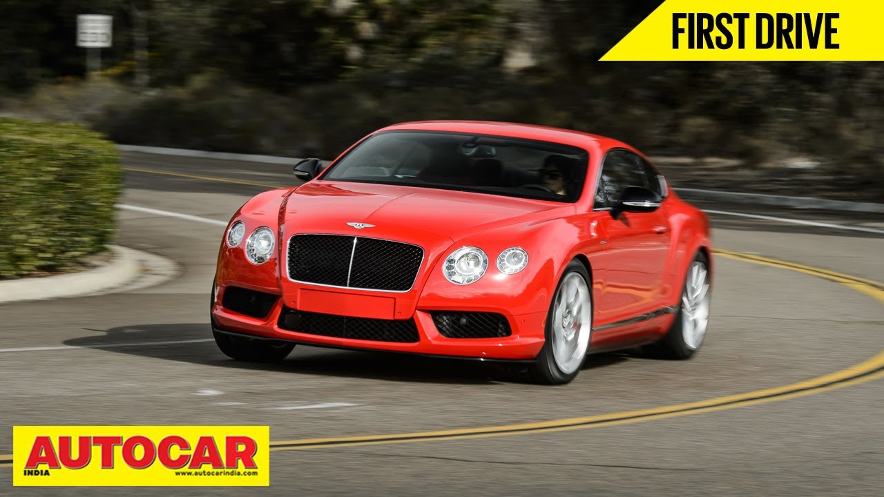 Bentley Continental V8s First Drive Autocar India Youtube