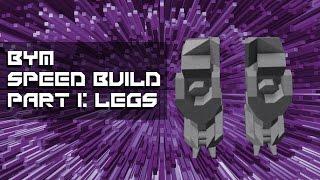 Roblox BYM Mech Speed Build Part 1: Legs