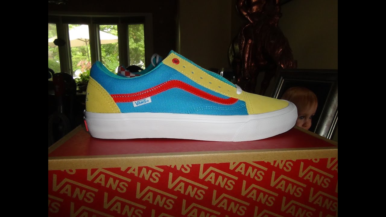2c8872f809428a VANS X GOLF WANG YELLOW BLUE RED OLD SKOOL PRO - YouTube