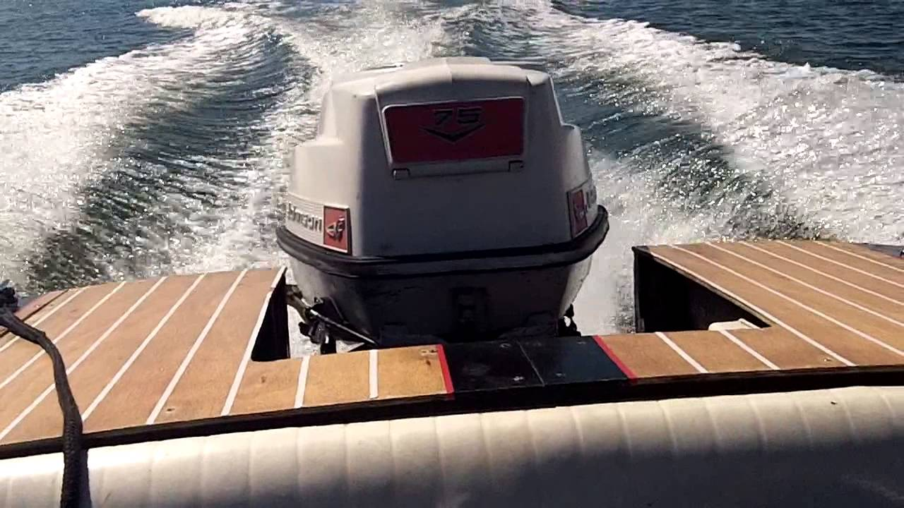 1960 johnson 75hp holeshot youtube rh youtube com 75 HP Mercury Outboard Manual Evinrude 75 HP Outboard 1972
