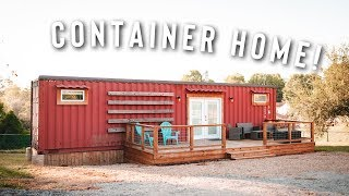 Minimalist Living 40ft Shipping Container Home! | House Tour!