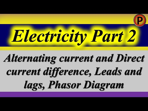 12p1302 IN HINDI Alternating current & Direct current difference, Leads and lags, Phasor Diagram