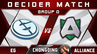 EG vs Alliance Decider Chongqing Major CQ Major Highlights 2019 Dota 2