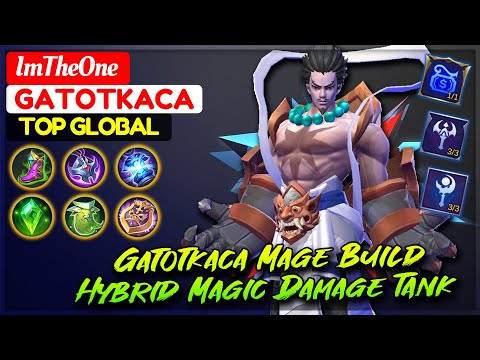 Gatotkaca Mage Build, Hybrid Magic Damage Tank [ Top Global Gatotkaca ] ImTheOne - Mobile Legends