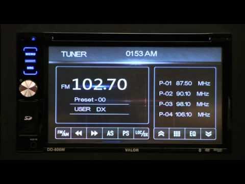 Valor DD-806W 2-DIN In-Dash AM/FM/CD/DVD Receiver