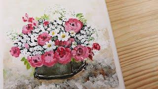 정물화(꽃)_아크릴화 …