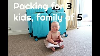 PACK WITH ME | PACKING FOR KIDS | PACKING FOR A FAMILY OF FIVE