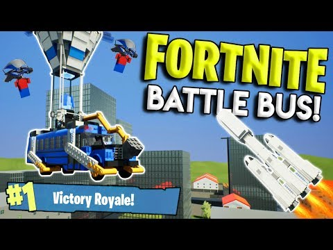 LEGO FORTNITE BATTLE BUS GETS DESTROYED BY FALCON HEAVY! - Brick Rigs Gameplay Challenge & Creations