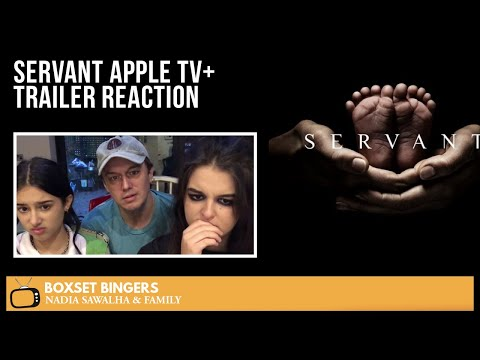 SERVANT Apple TV+ TRAILER The Boxset Bingers FAMILY Reaction