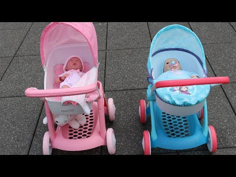 hello-kitty-doll-pram-baby-annabell-baby-born-10-baby-dolls-in-7-pram-stroller-out-for-a-walk