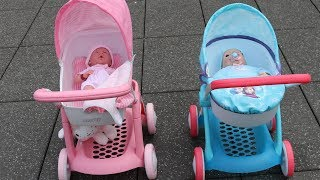 Hello Kitty Doll Pram Baby Annabell Baby Born 10 Baby Dolls in 7 Pram Stroller Out for a walk