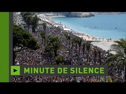 Minute de silence en mémoire des victimes de l'attentat de Nice (Direct du18.07.16)