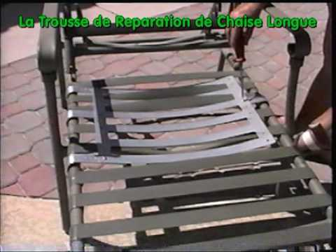 La trousse de reparation pour chaise longue youtube for Chaise pour piscine