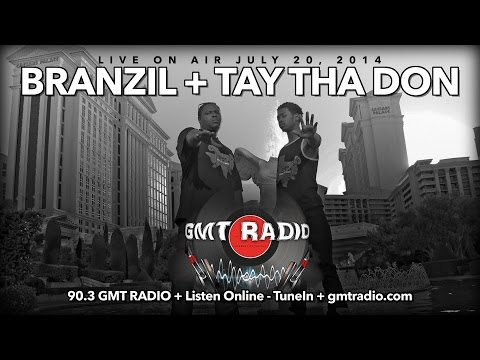 Branzil and Tay Tha Don Live on 90.3 GMT Radio + July 20, 2014