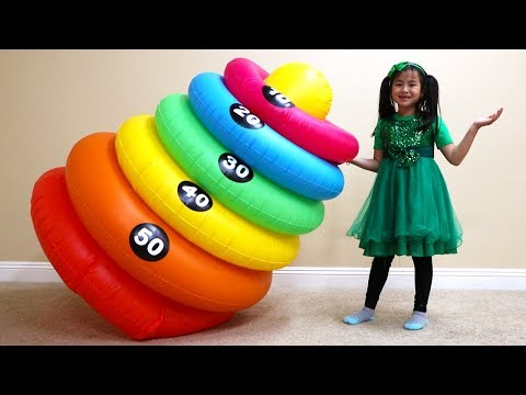 Jannie Pretend Play Magic Stacking Rings Transform Colors for Kids