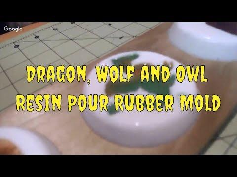 Escagedo - Resin Mica Pour/Rubber Mold/Wolf Dragon Owl