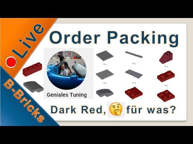 🔴 Live Order Packing #03   Für was benötigt Martin so viel Dark Red???