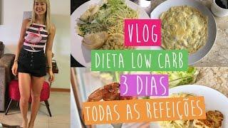 VLOG #3 - MINHA DIETA LOW CARB POR 3 DIAS {todas as refeições}