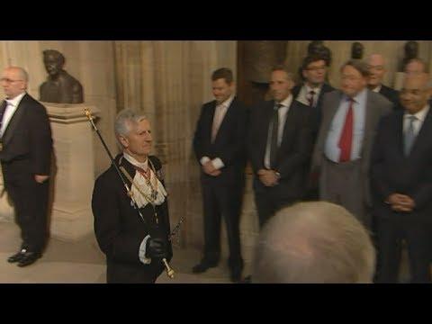 Queen's Black Rod has door slammed in his face by MPs