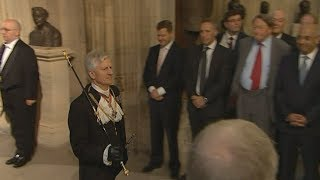 Queen's Black Rod has door slammed in his face by MPs