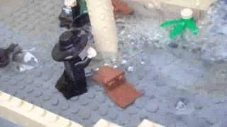 Hundimiento del Titanic en Lego