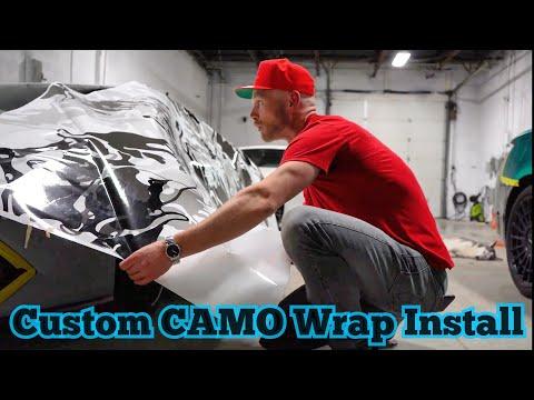 Installing A Custom CAMO Vinyl Wrap | Lamborghini & Orajet 3951RA ProSlide (NEW!)