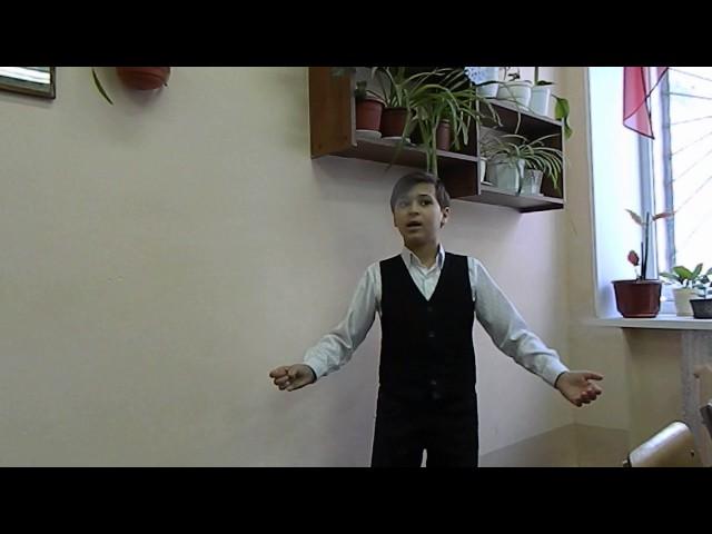 Изображение предпросмотра прочтения – АрстанБеркимбаев читает отрывок изпроизведения «Бородино» М.Ю.Лермонтова