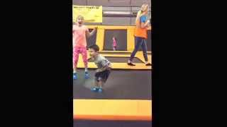 Zayden and Brooklynn at Urban Air Trampoline Park in