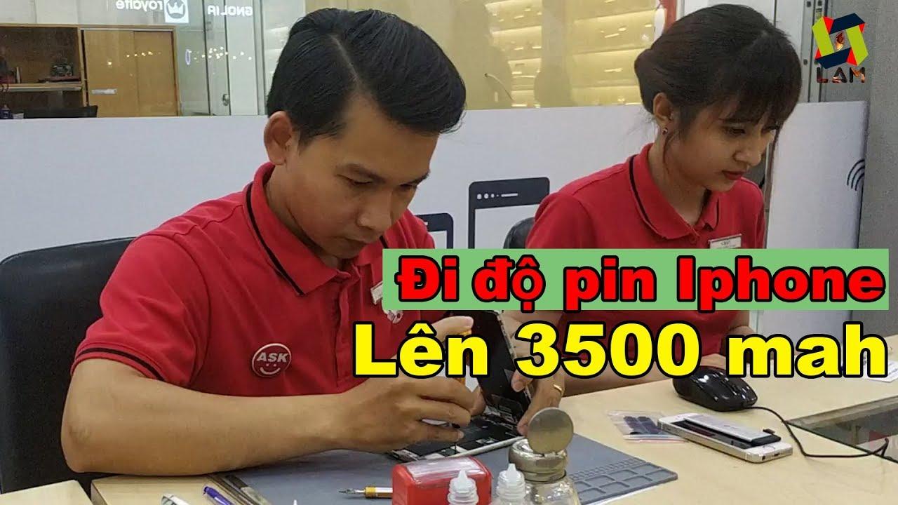 Hành trình độ pin Iphone 6s plus lên 3500 mah Remax tại dienthoaivui.
