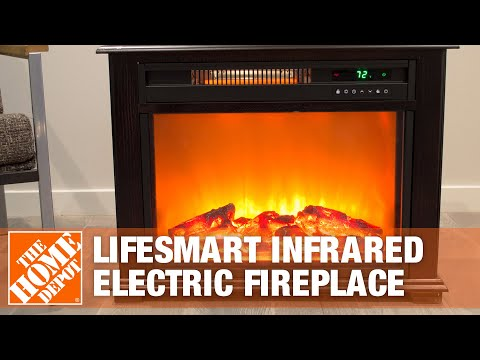 Lifesmart Infrared Electric Fireplace Warms any Room  The Home Depot  YouTube