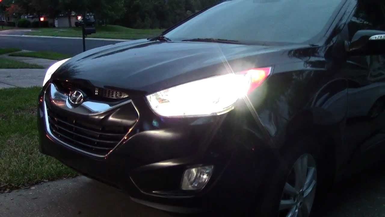 modded hyundai tucson ix35 hid xenon headlamps youtube