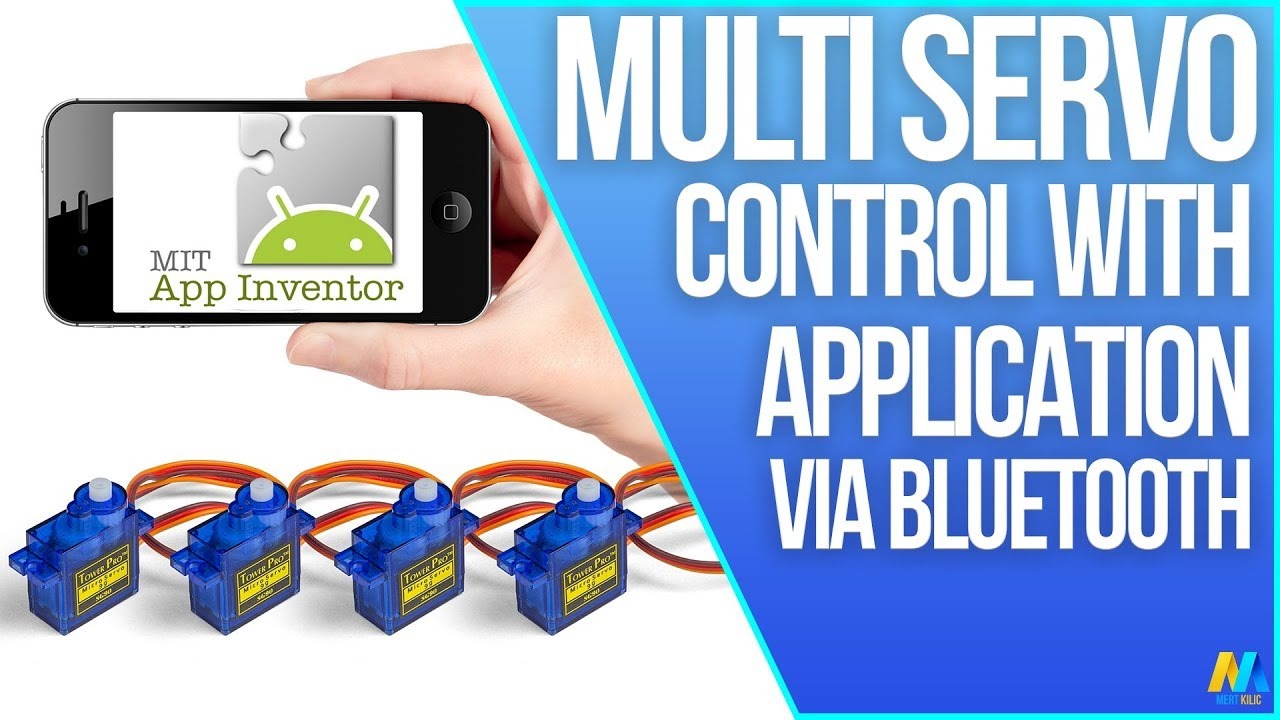 Multi Servo Motor Control Via Bluetooth Using Android App Arduino Circuit Diagram For Dvd And Inventor