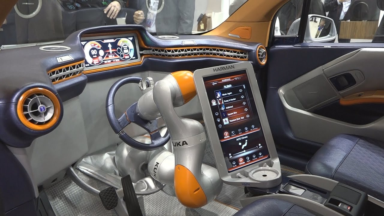 un volant robotis dans la voiture du futur mwc 2016 youtube. Black Bedroom Furniture Sets. Home Design Ideas