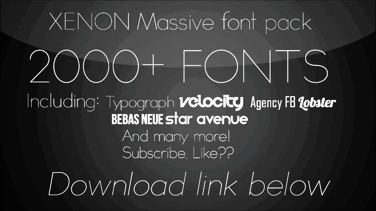Download Massive Font Pack (2000 fonts) - YouTube