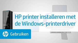 HP printer installeren met de Windows-printerdriver