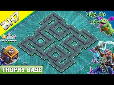Best Builder Hall 7 (BH 7) Base 2019 Design | Clash Of Clans