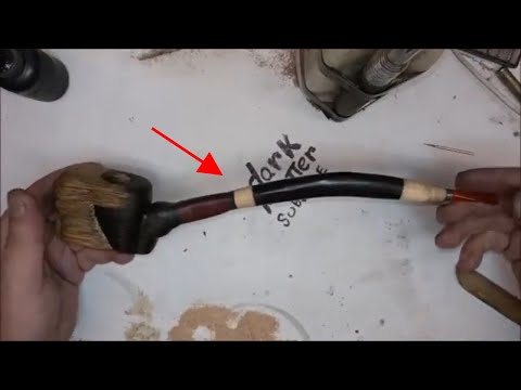 how to make a long stemmed wood spirit tobacco pipe