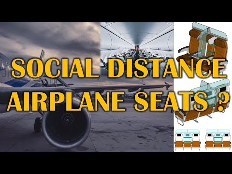 Social Distance Airplane Seats | New Invention| New Idea