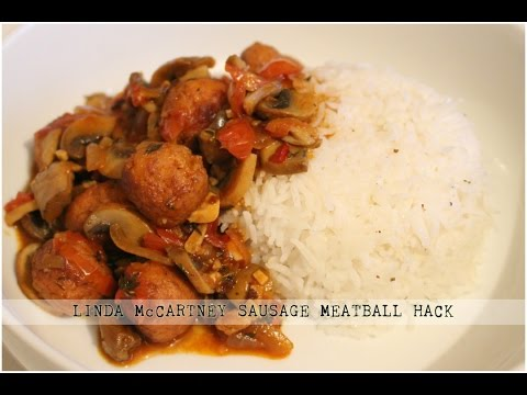 LINDA McCARTNEY SAUSAGE MEATBALL HACK | VEGAN FOOD HACKS