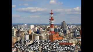 日本都市圏人口ランキング 2010年版 100位~1位