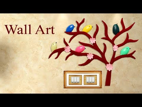 Wall Art || Best out of Waste Idea || Room Decor || Wall Decoration Idea